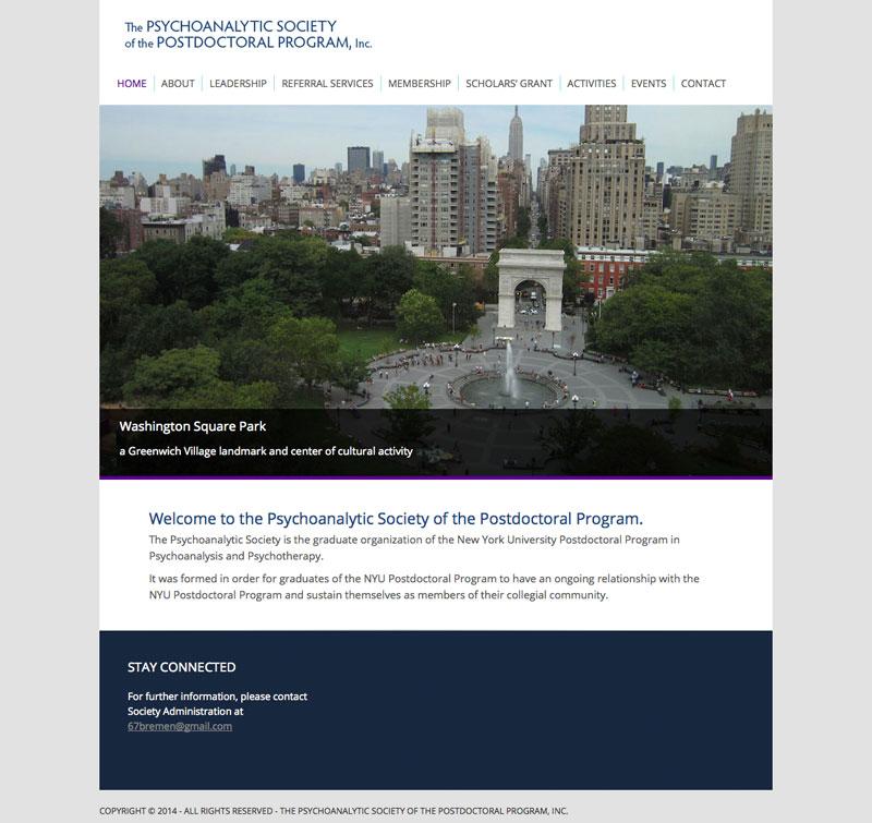 The Psychoanalytic Society of the Postdoctoral Program – NYU